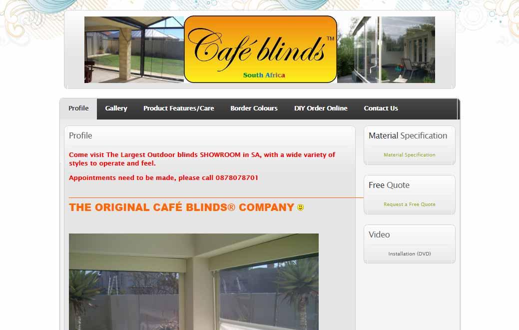 Cafeblinds Link
