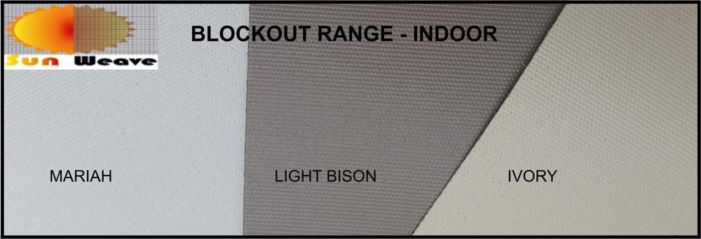 Blockout indoor range colours