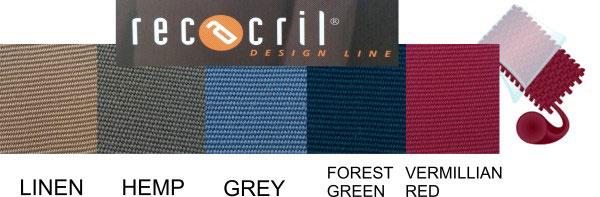 Recasens imported acrylic canvas colour range solids